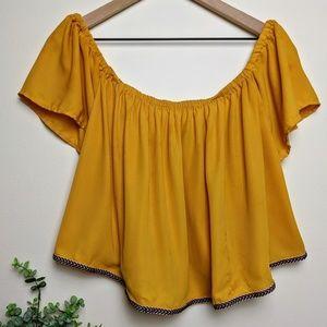 Cleo Appearl | Mustard Yellow Crop Top